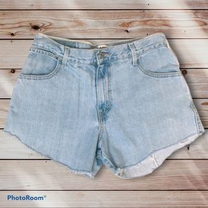 Levi's Cutoff Relaxed Fit Light wash Shorts 8